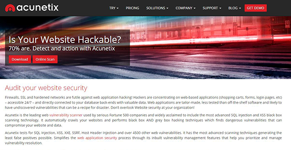 Acunetix Reviews: Overview, Pricing and Features
