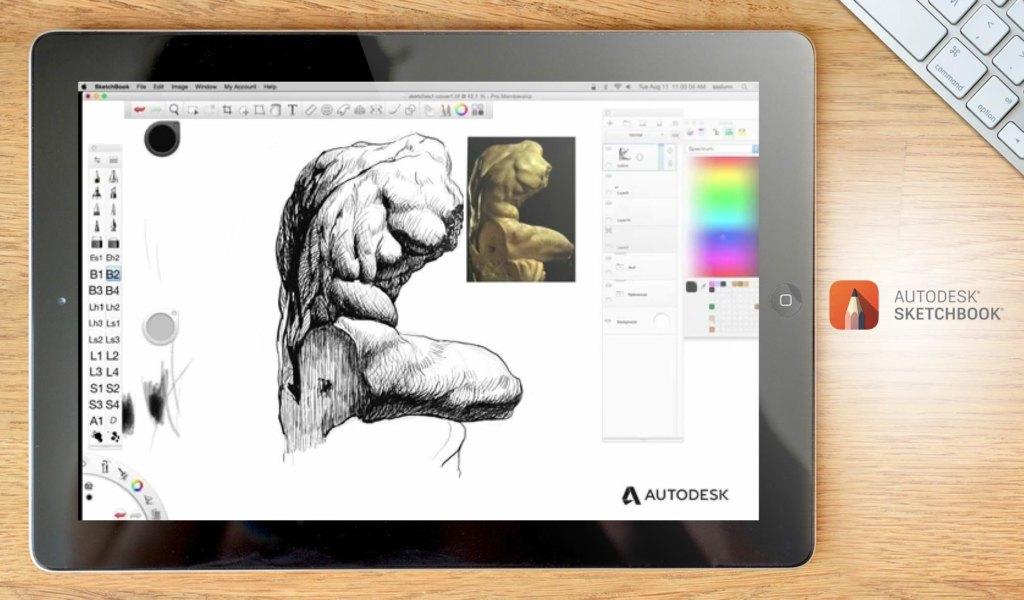 Ejemplo del tablero de Autodesk SketchBook