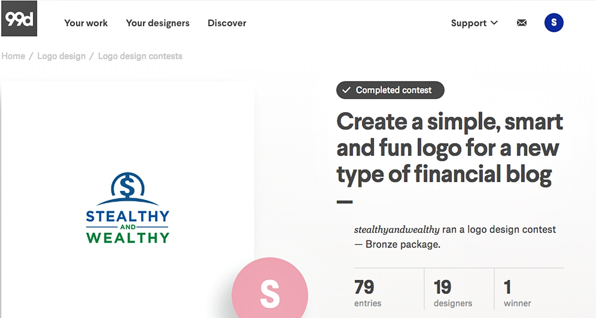 47f43b1c729 99Designs is in our list of top 20 freelance websites for beginners and  professionals because of its service flexibility