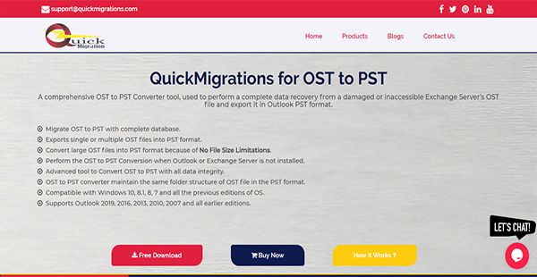 QuickMigrations for OST to PST Reviews: Overview, Pricing and Features