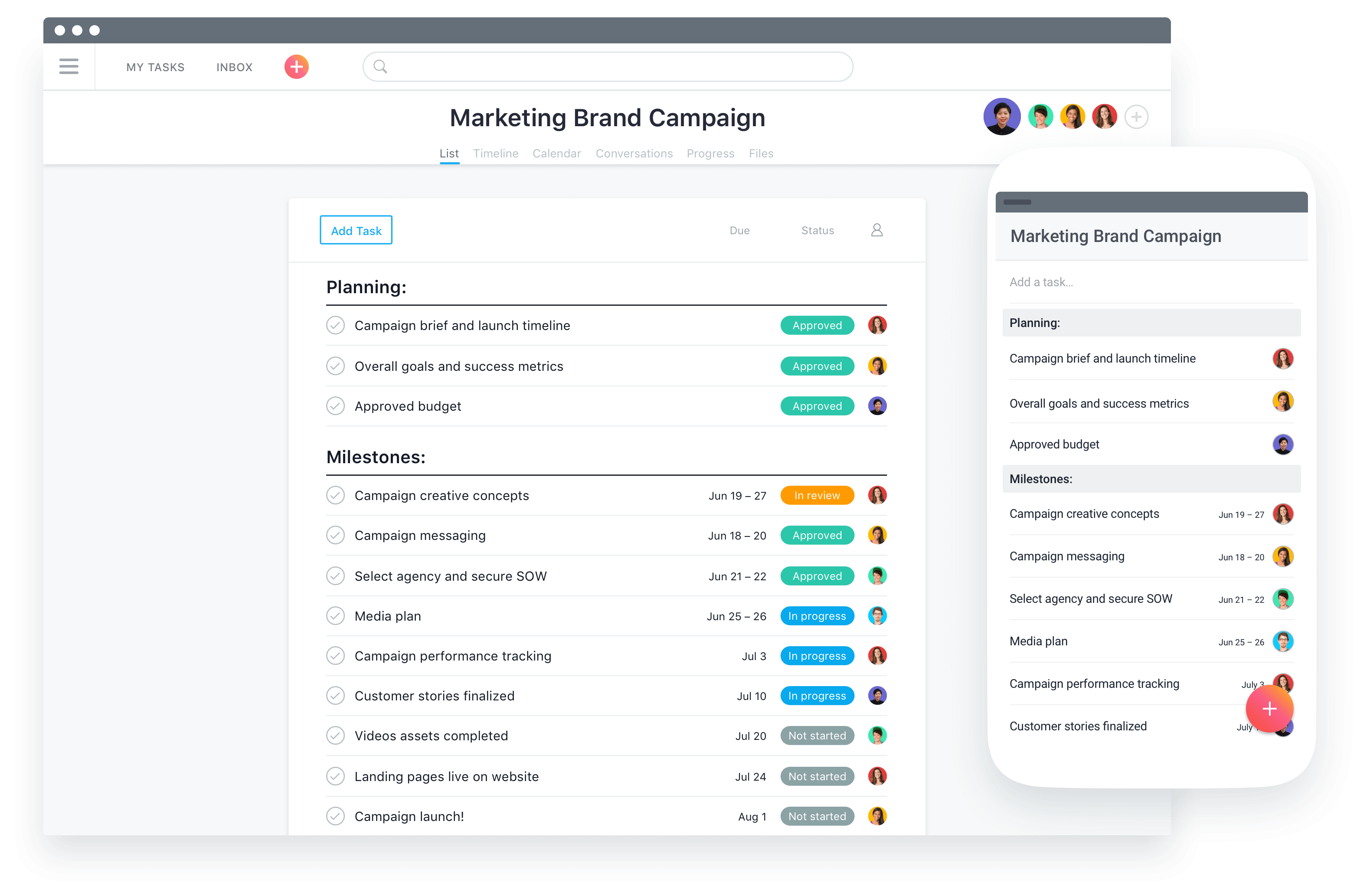 project timeline app for mac