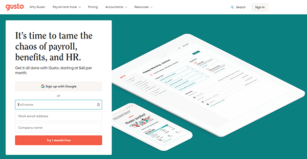 Gusto Reviews: Overview, Pricing and Features