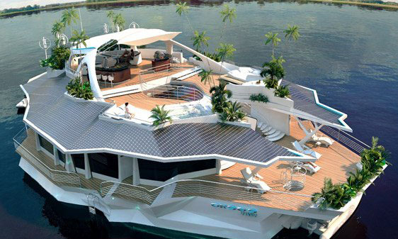 The German ORSOS Conceived Yacht With 10000 Square Feet Of Lavish Living Space Complete A Home Theater Or Should We Say