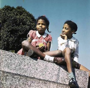 African-American schoolchildren