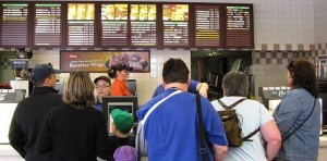 """""""Would you like fries with that"""" is a common marketing  tactic for customers  to up their fast food spending."""