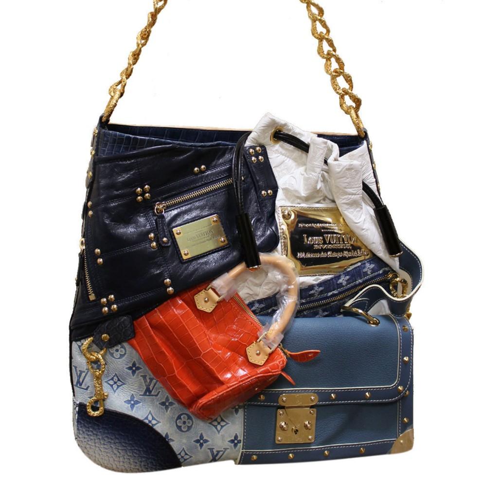 8 Lv Tribute Patchwork Bag 42 000